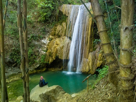 Wisata Air Terjun Di Kedalaman Hutan Giriloyo Bantul